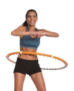 Trening sportowy z hula hop